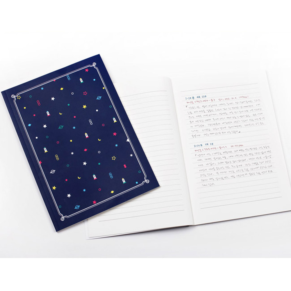 2NUL My little school lined notebook set of 3