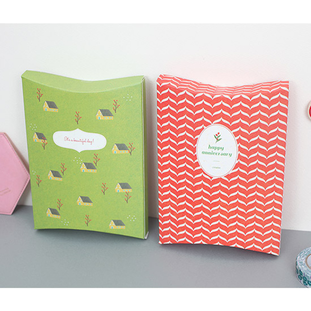 Gift paper bag small set of 8 styles ver.2