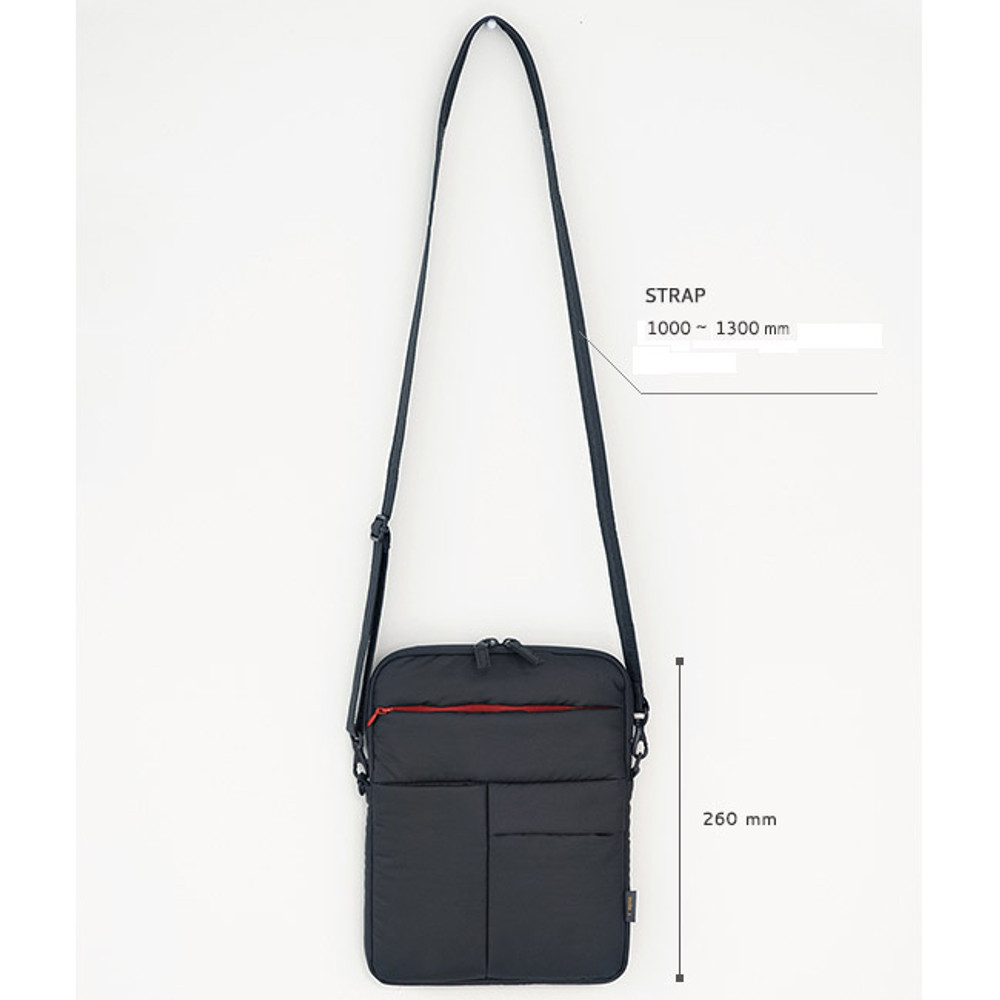 Size of Manteau moelleux smart messenger pouch for iPad