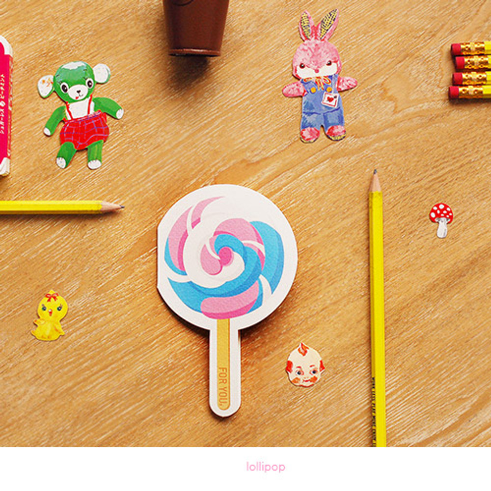 Lollipop - Holiday thank you message card