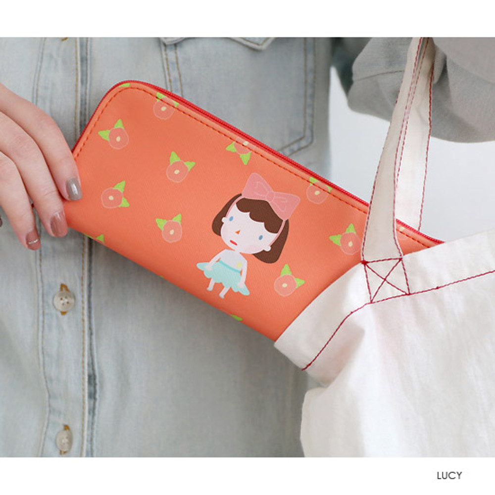 Lucy - Hellogeeks from the forest zipper pencil case