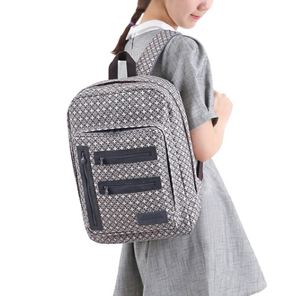 Circle star gray - Monopoly Vintage pattern easy carry backpack