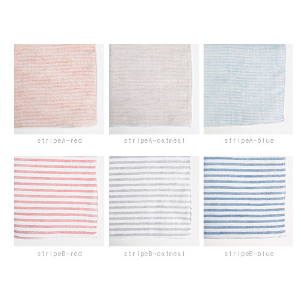 Colors of Stripe pattern cotton handkerchief hankie