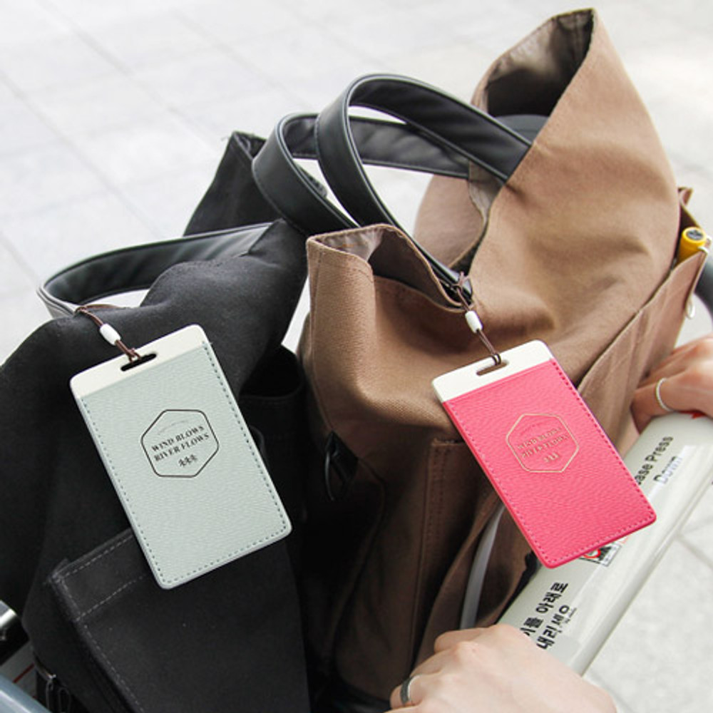 Flying travel luggage name tag ver.2