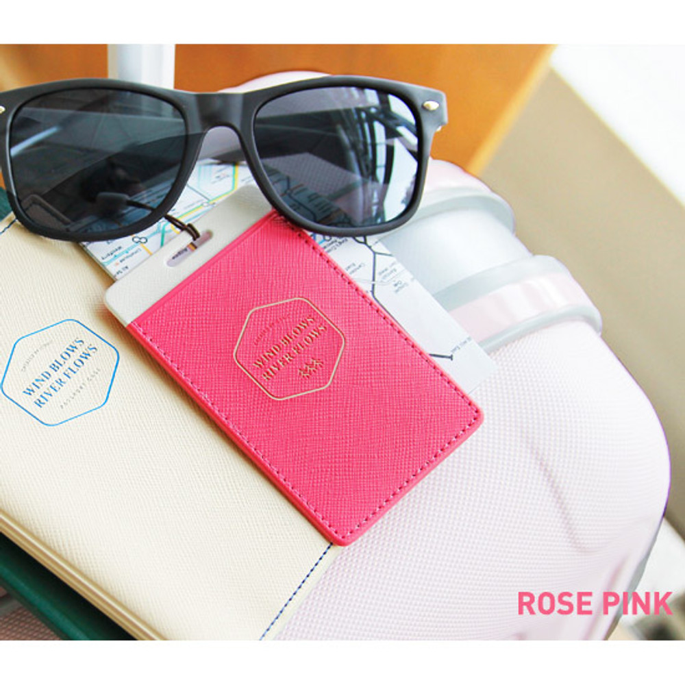 Rose pink - Flying travel luggage name tag ver.2