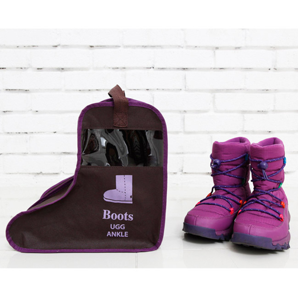 Small/Brown - Boots storage bag Dust-proof cover ver.2