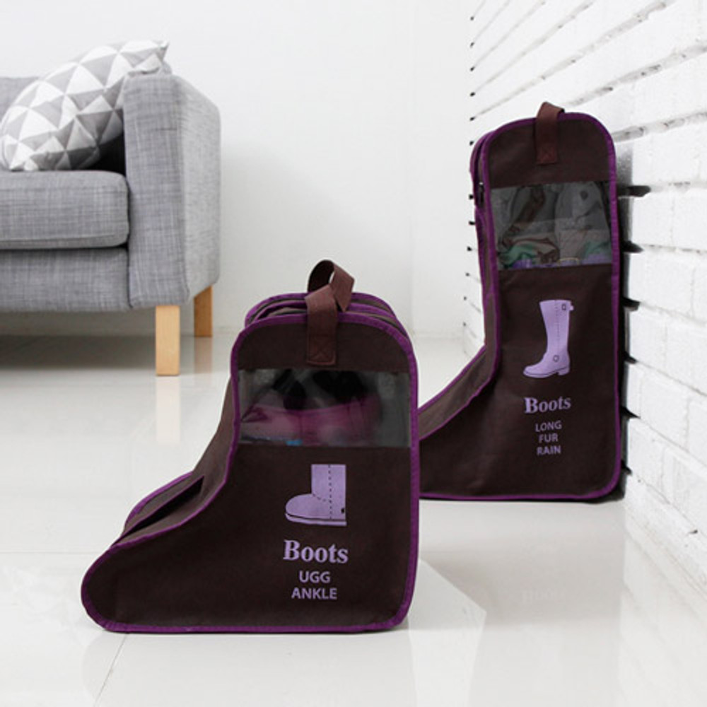 Brown - Boots storage bag Dust-proof cover ver.2