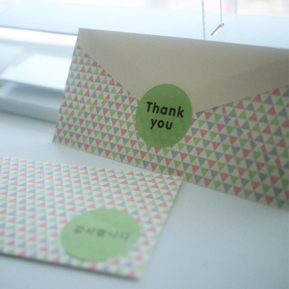 Triangle pattern - Pattern money envelope set with stickers