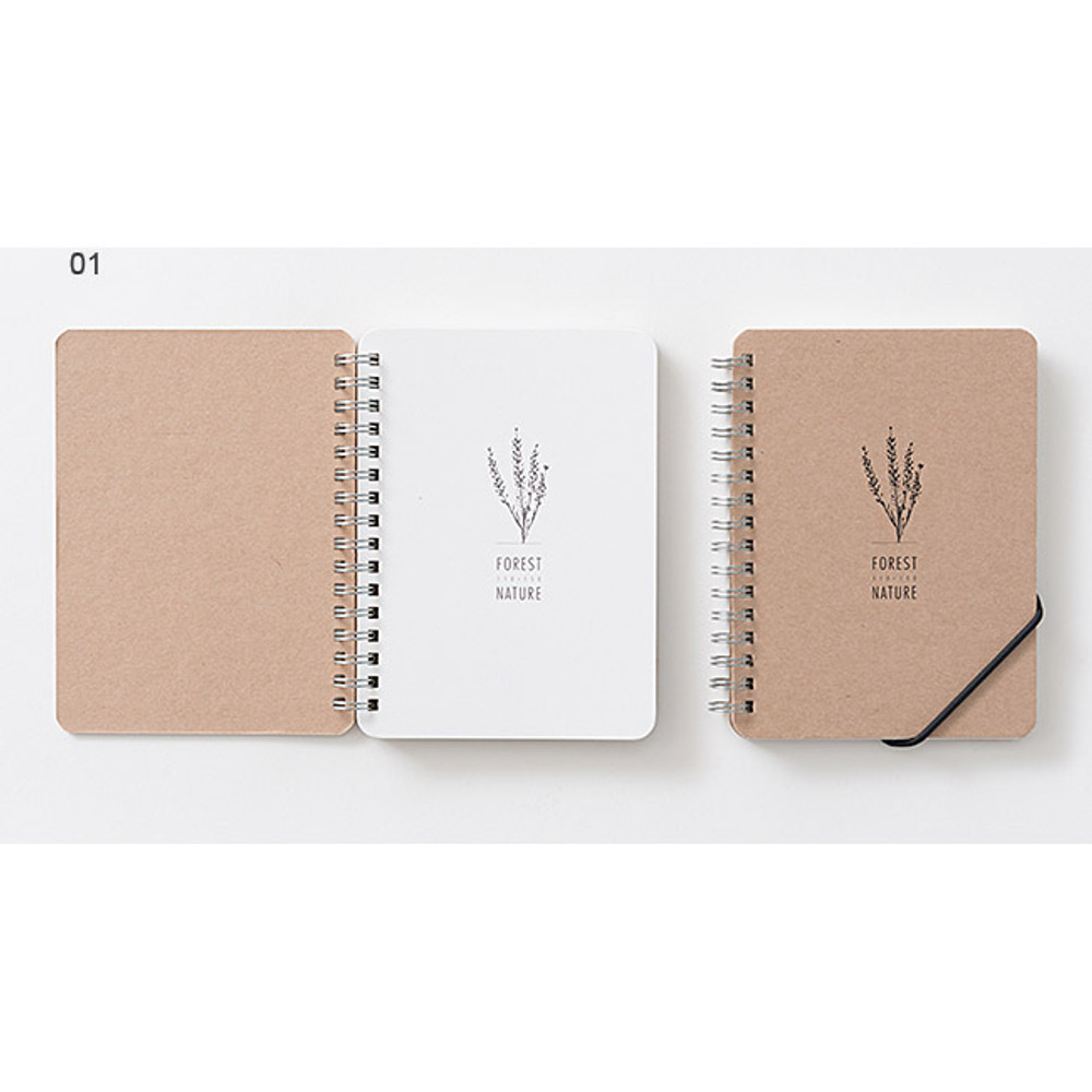 01 - Wirebound Kraft nature lined notebook small