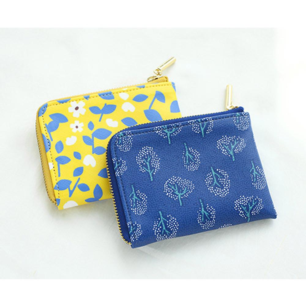 Promenade half zip around card case holder