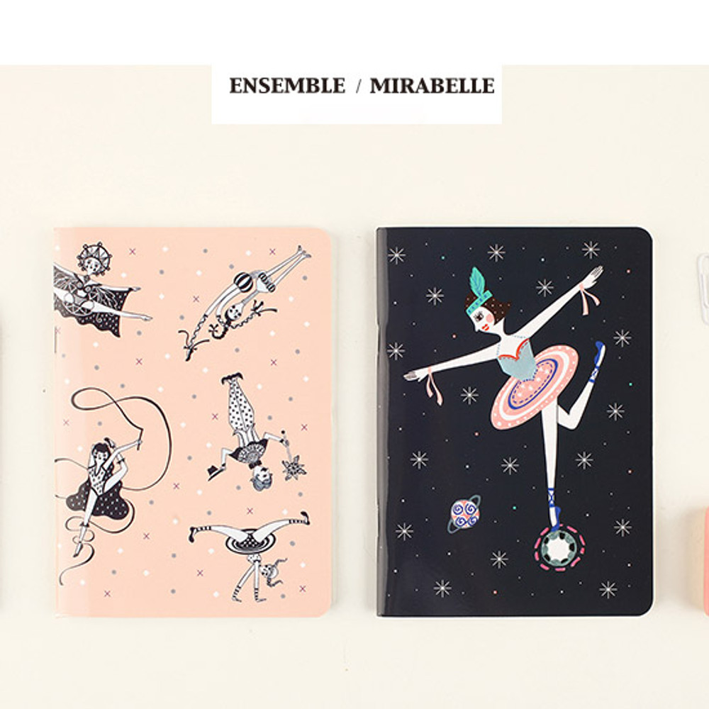 Ensemble, Mirabelle - Circus in the world mini lined notebook