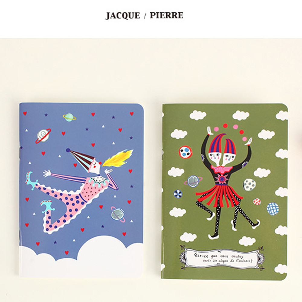 Jacque, Pierre - Circus in the world mini lined notebook