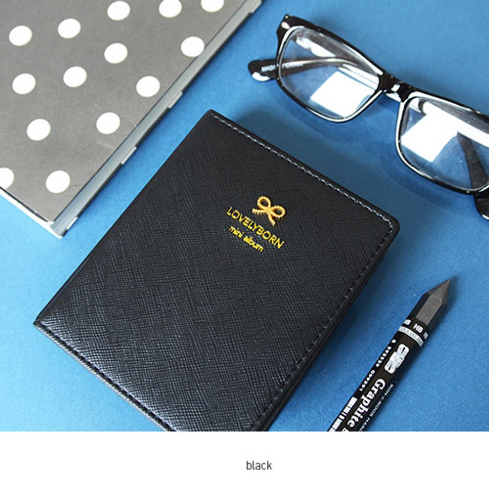 Black - Lovelyborn instax mini slip in photo album