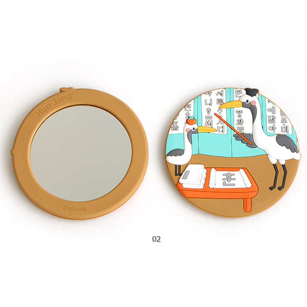 02 - Korean traditional round handy mirror