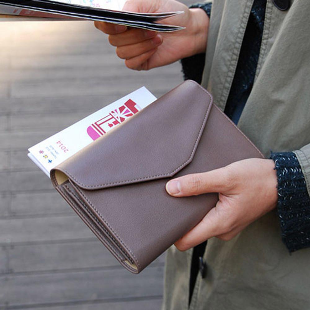 Ash brown - Happy holiday clutch wallet