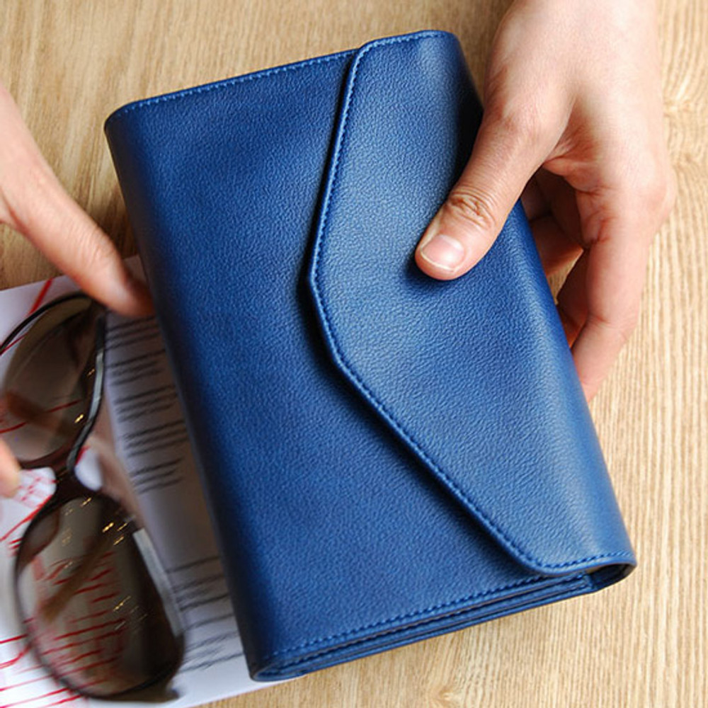 Navy blue - Happy holiday clutch wallet