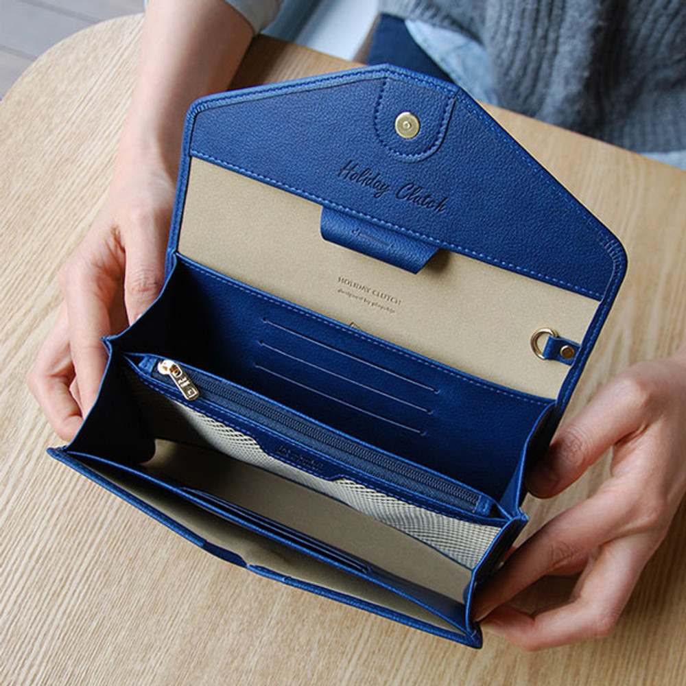 Happy holiday clutch wallet