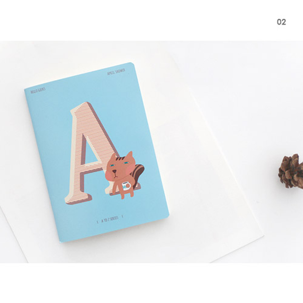 02 - Hellogeeks cute illustration small lined notebook