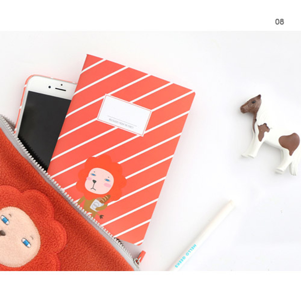 08 - Hellogeeks cute illustration small lined notebook