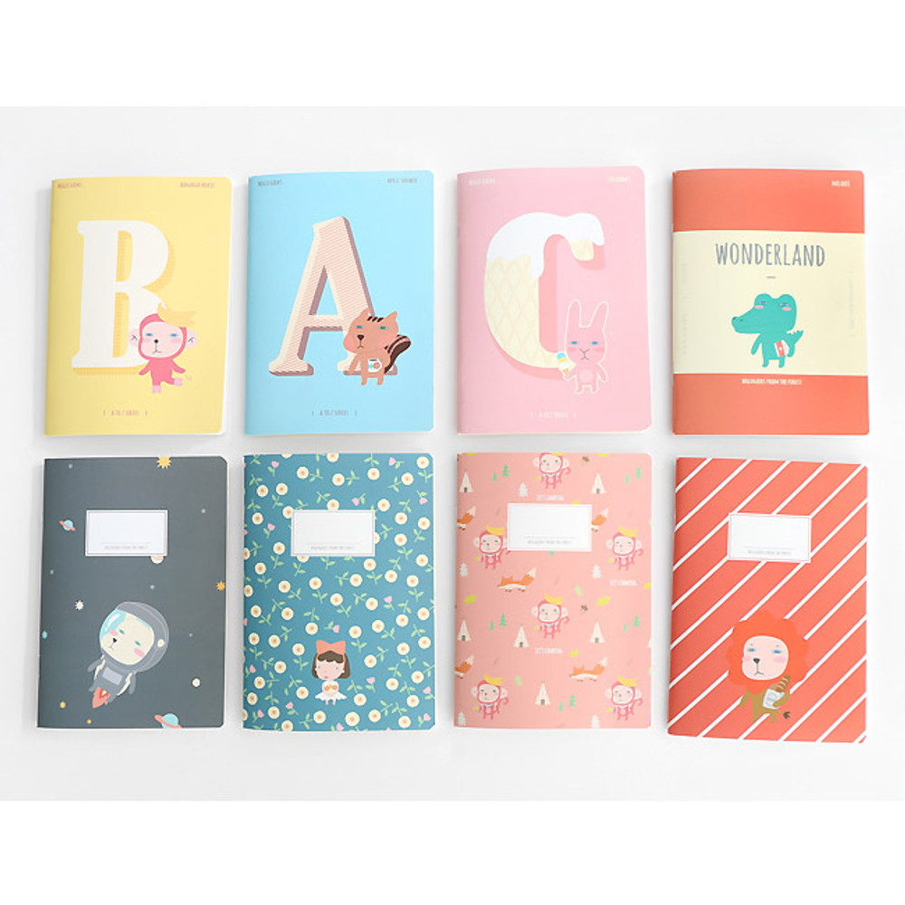 Hellogeeks cute illustration small lined notebook