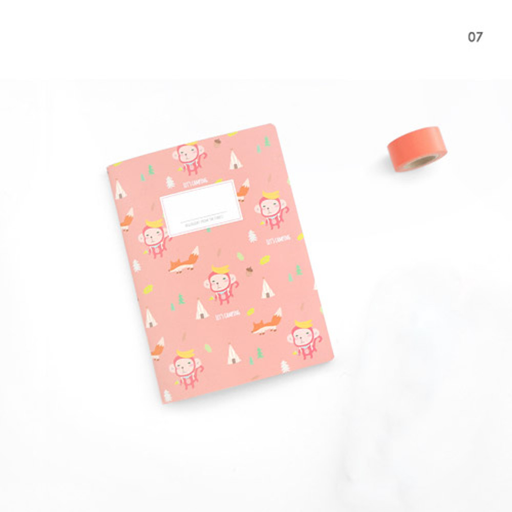 07 - Hellogeeks cute illustration small lined notebook