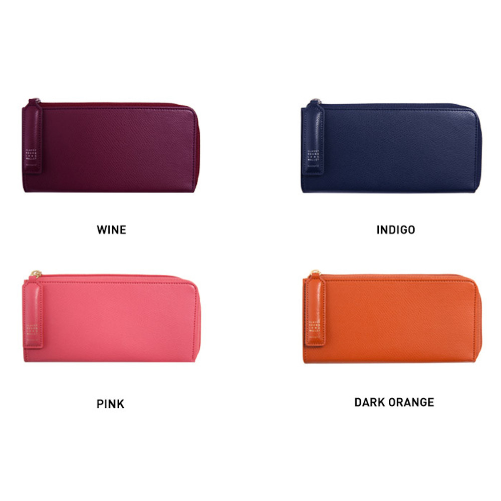 Colors of Classy half zip around long wallet