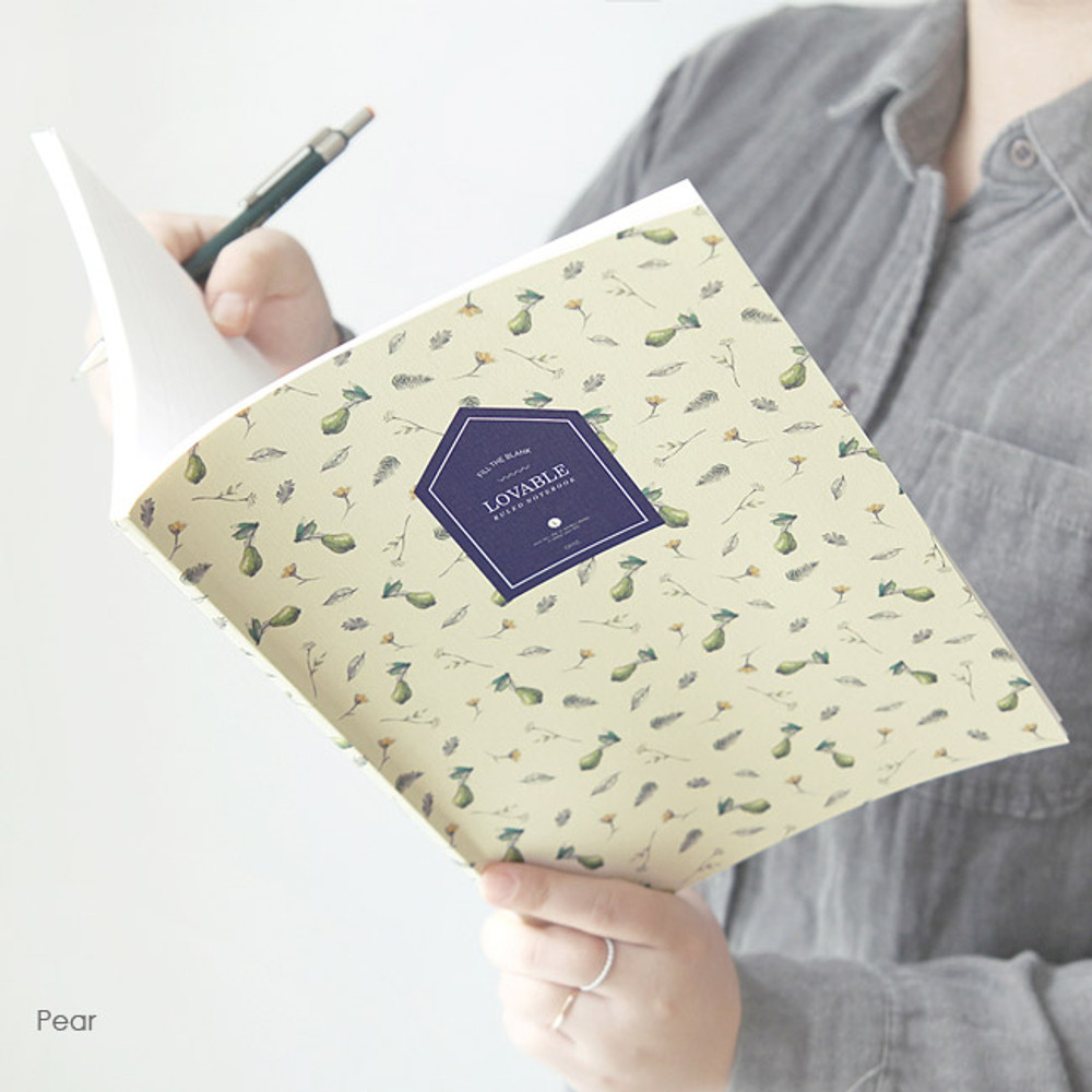 Pear - Fill the blank lovable pattern lined notebook