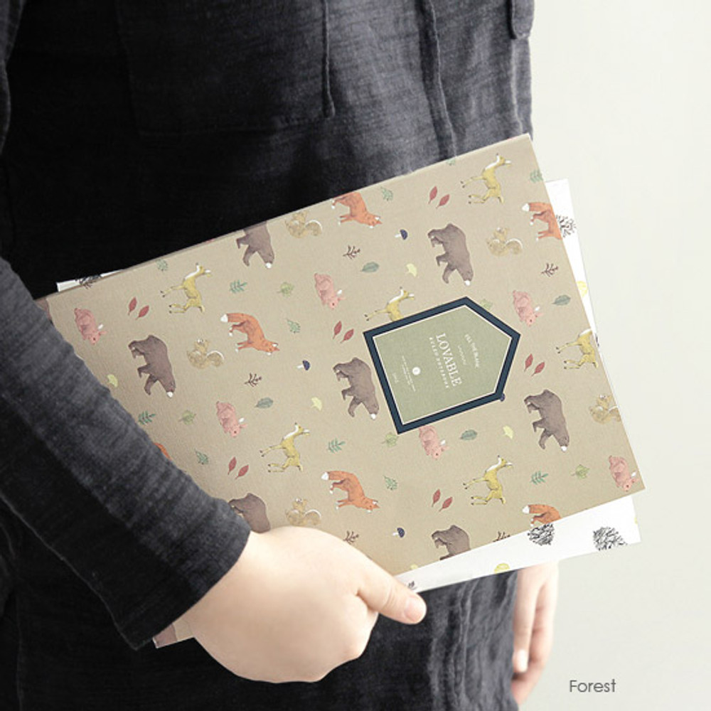 Forest - Fill the blank lovable pattern lined notebook