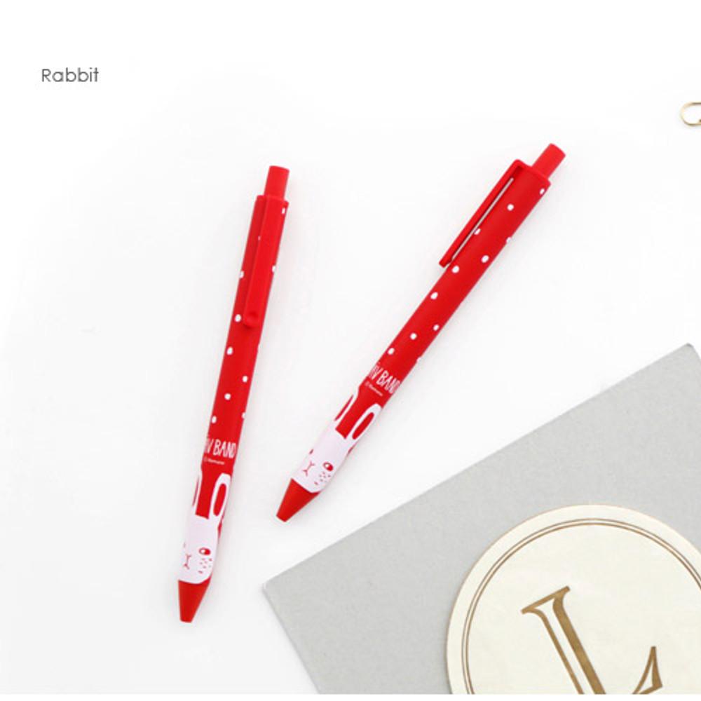 Rabbit - Ravband black gel pen 0.4mm
