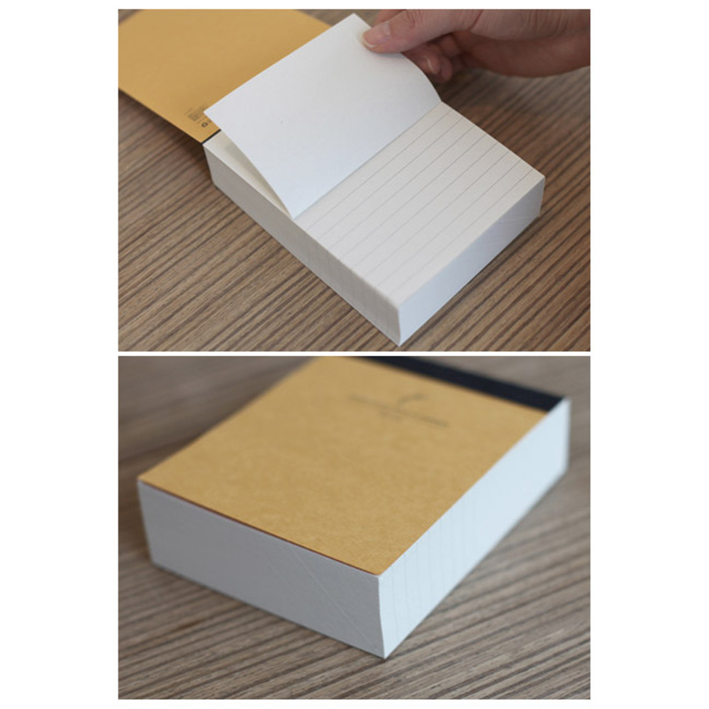 Detail of Natural and Pure lined notepad