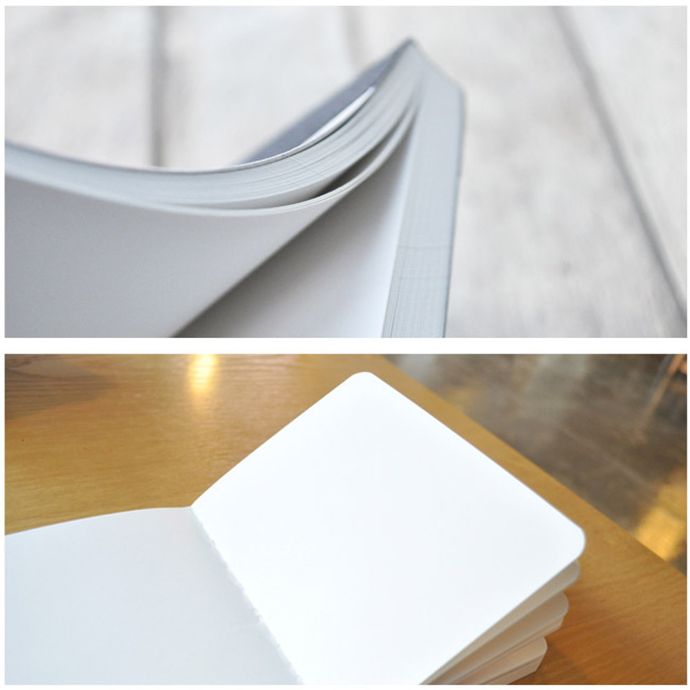 Natural and Pure gray plain notebook