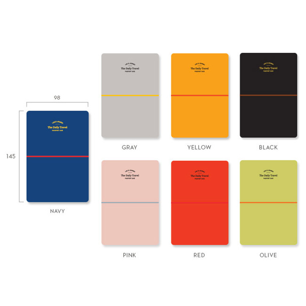Colors of Life is journey RFID blocking passport case ver.2