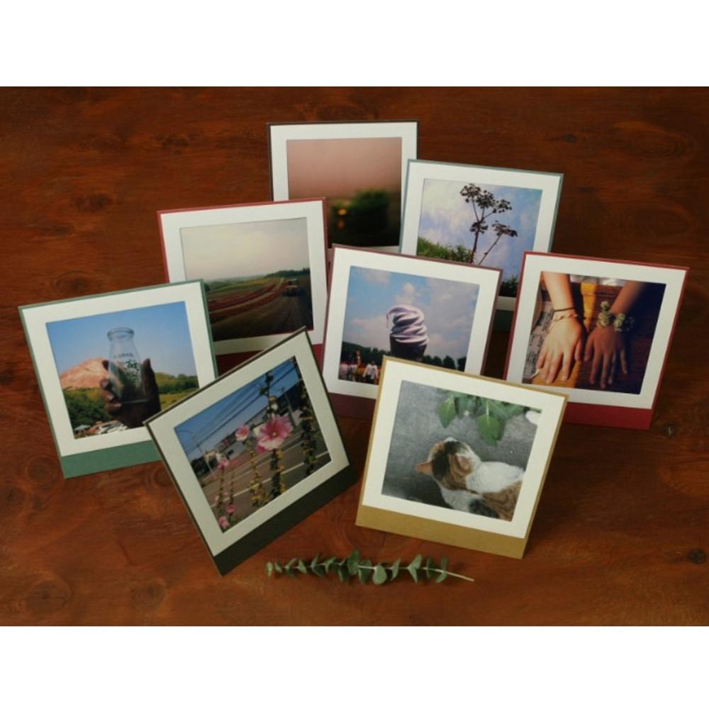 Color standing paper photo frame set