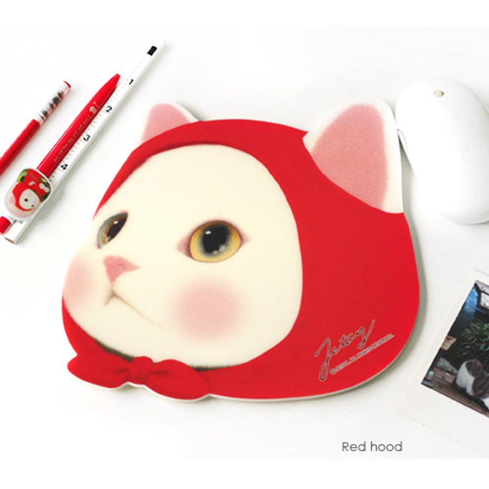 Red hood - Choo Choo cute cat friends mouse pad