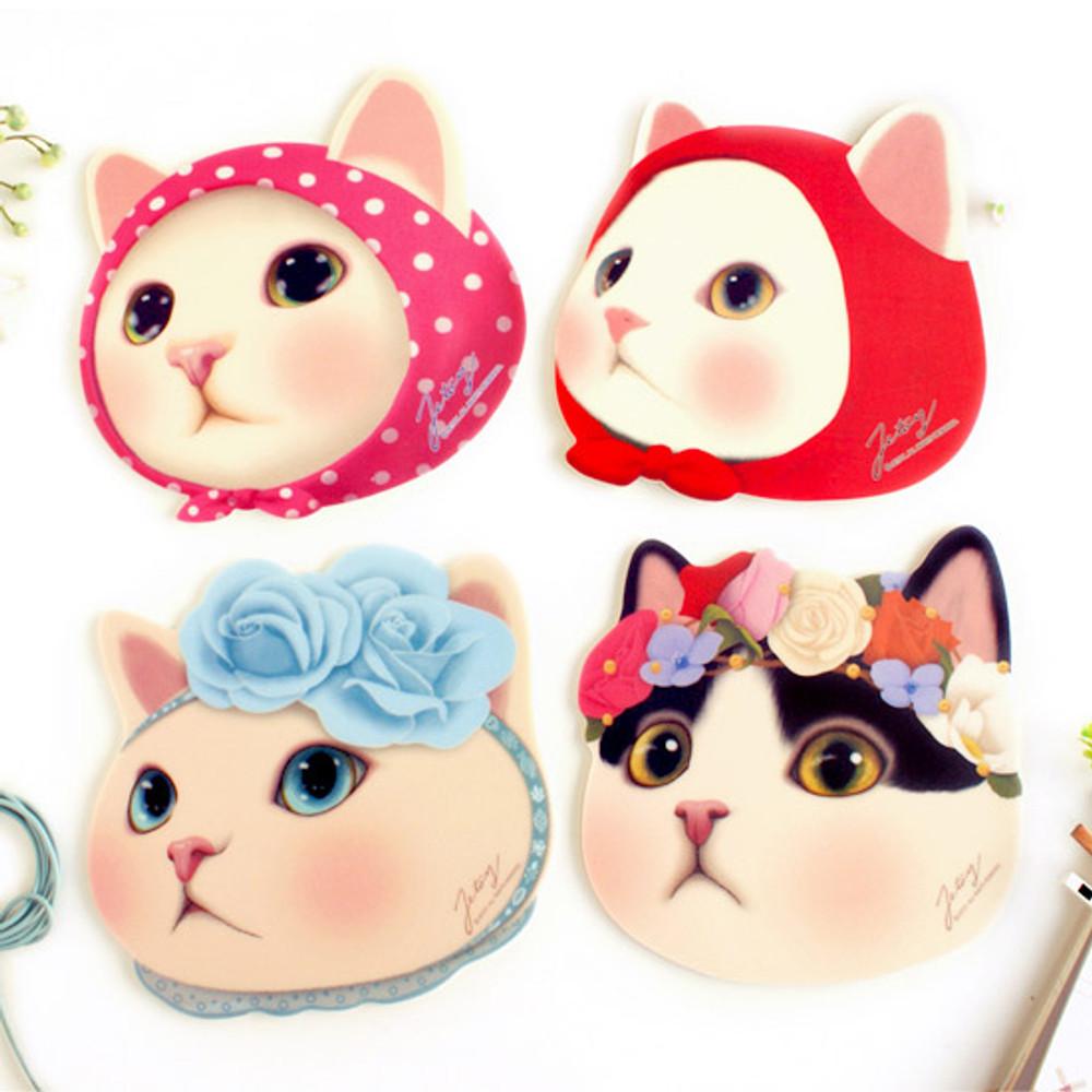 Choo Choo cute cat friends mouse pad
