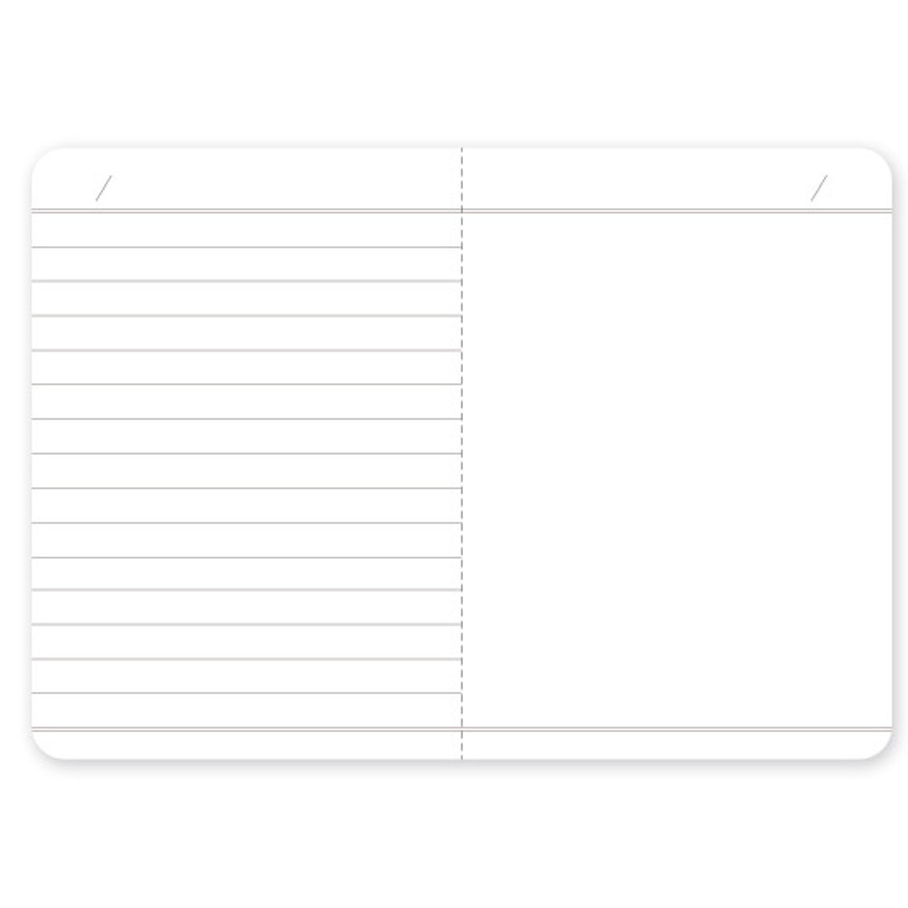 World map lined and plain small notebook