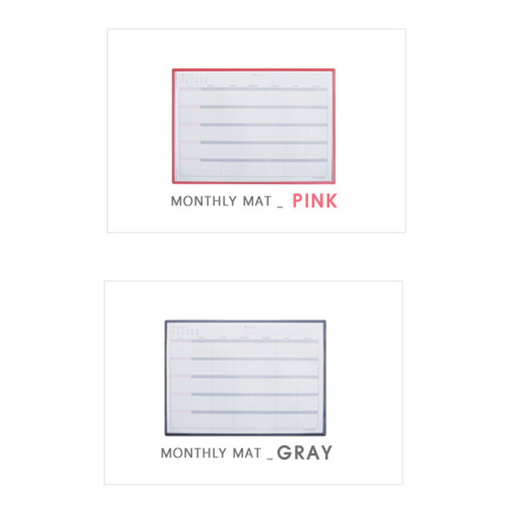 Colors of Monthly undated planner scheduler paper with desk mat