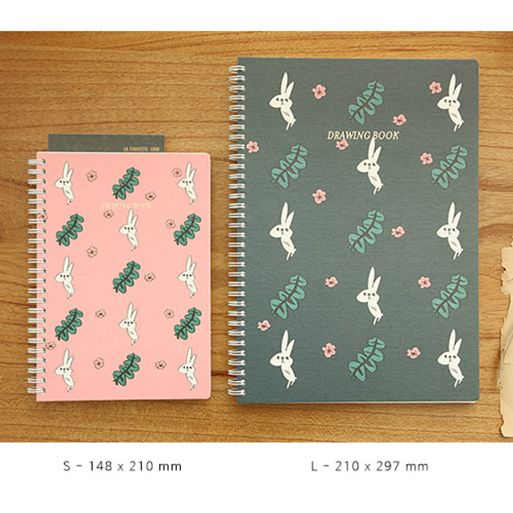 Size of Jam Jam wirebound drawing notebook