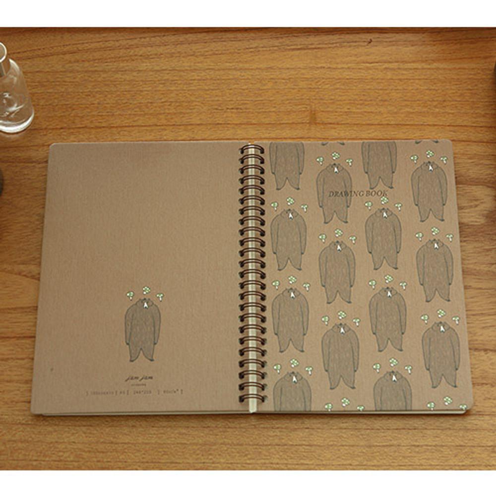 Gentle bear - Jam Jam wirebound drawing notebook