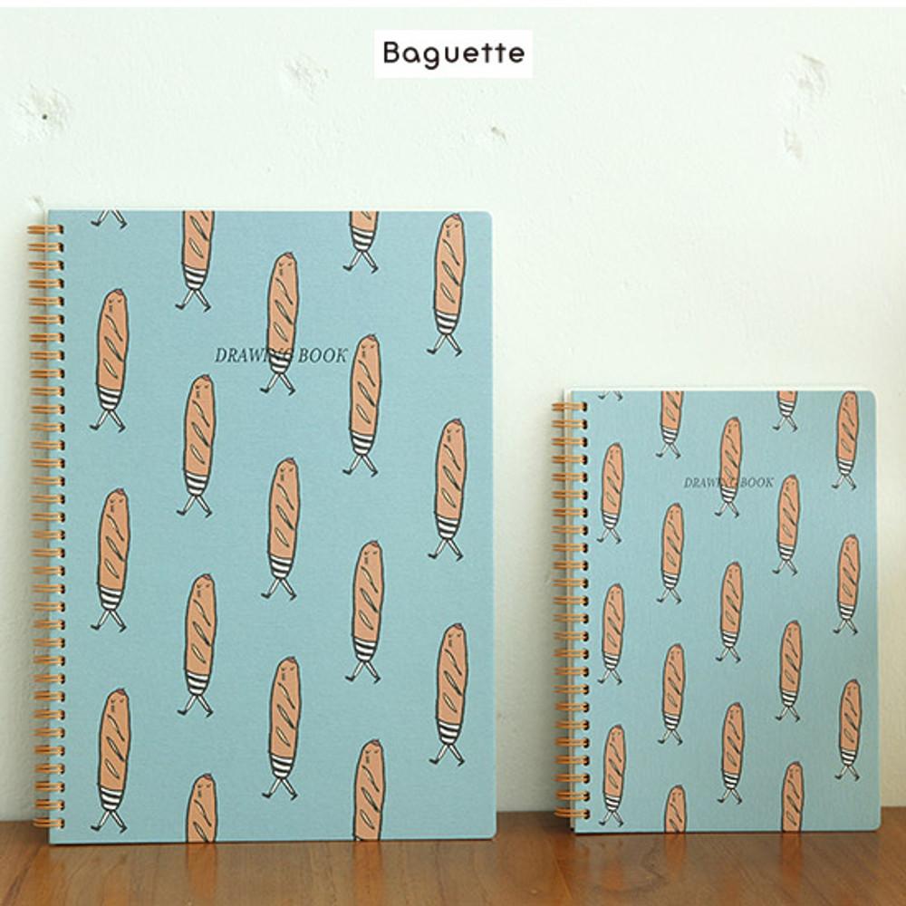 Baguette - Jam Jam wirebound drawing notebook