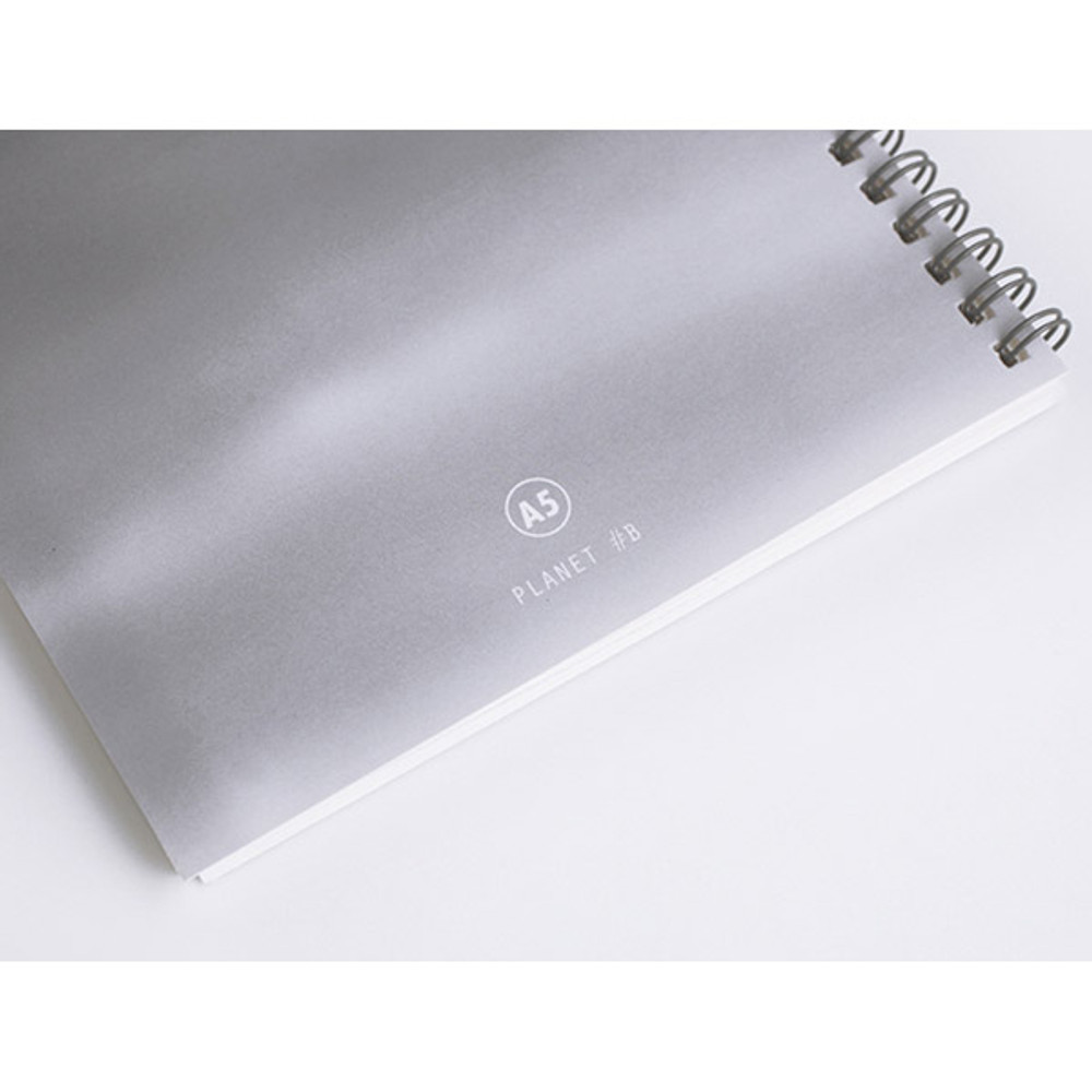 Planet #B - Planet wirebound lined notebook