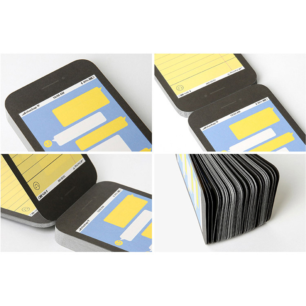 Detail of Smartphone message memo pad