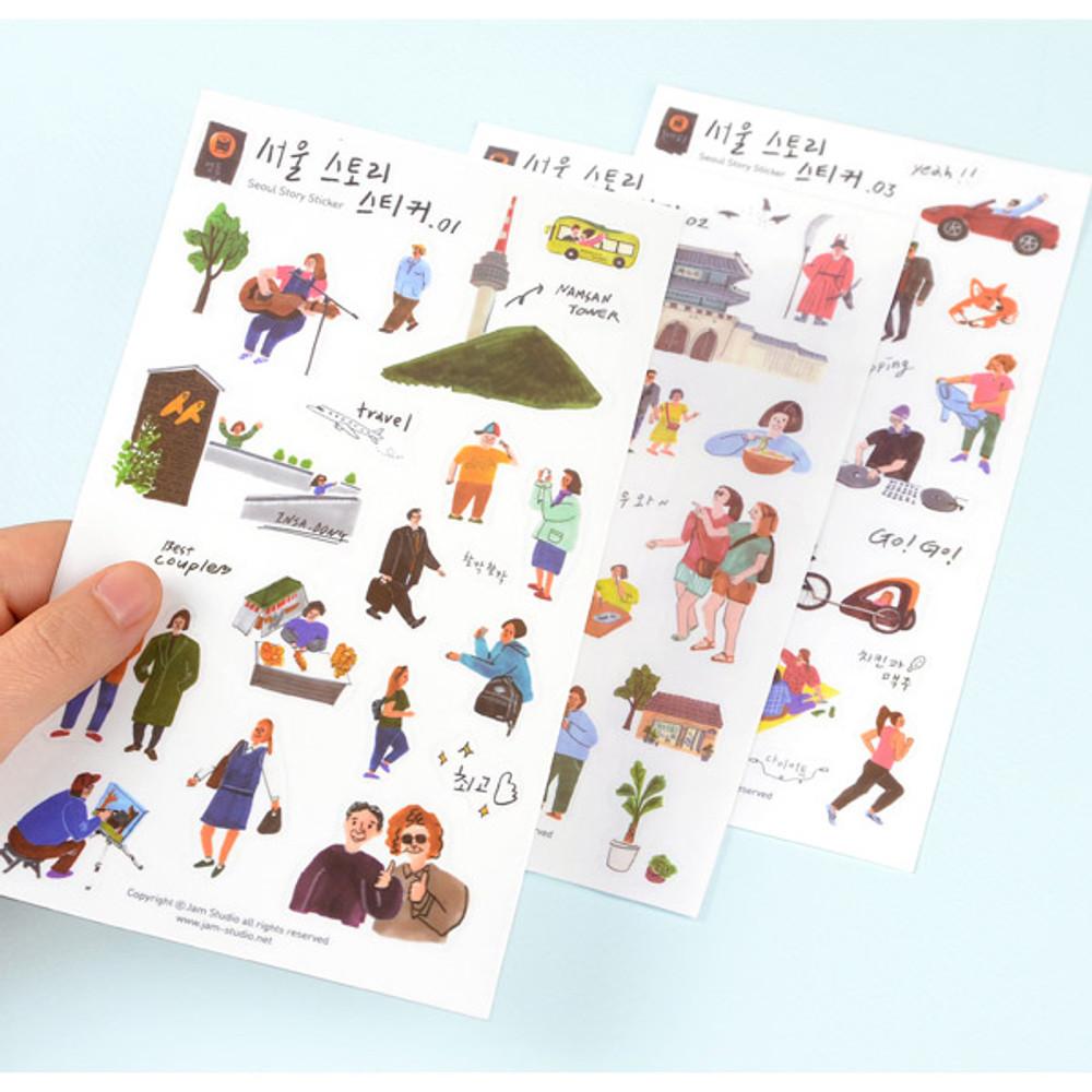 Seoul story translucent deco sticker
