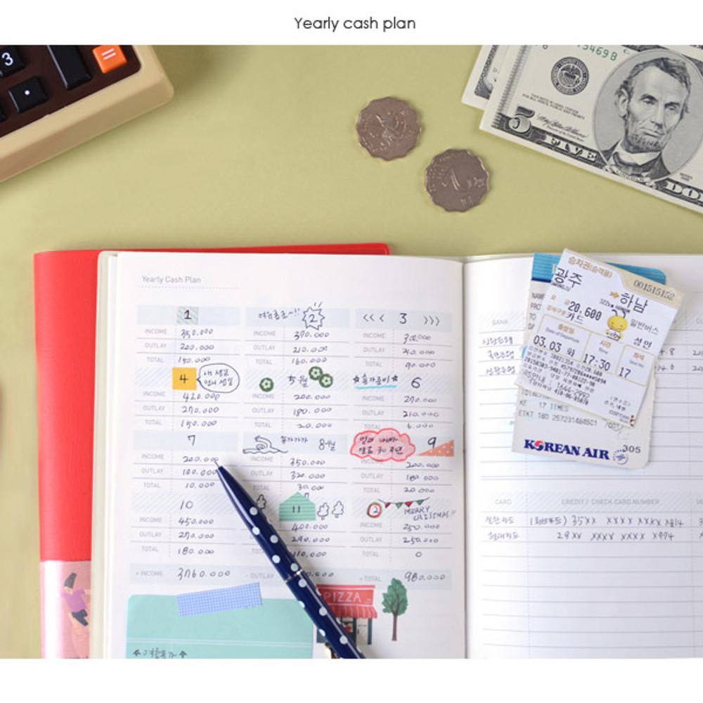 Yearly cash plan