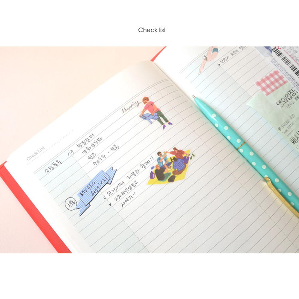 Check list - Jam Jam cash book planner note