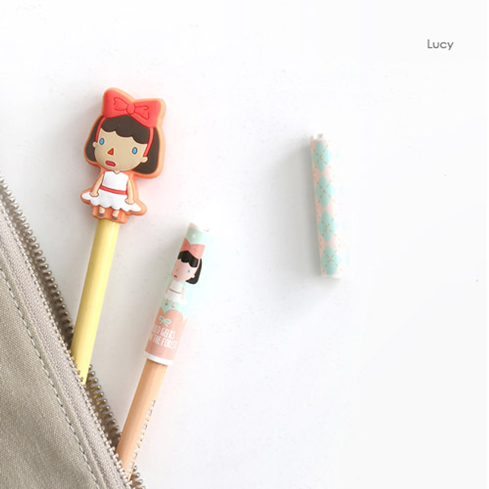 Lucy - Pattern from the forest soft pencil cap set ver.2