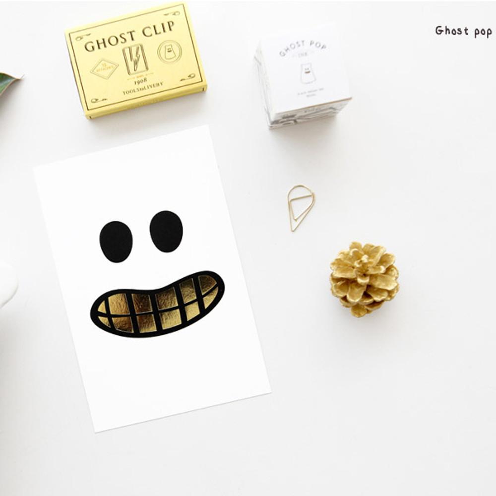 Ghost pop - Ghost pop illustration postcard