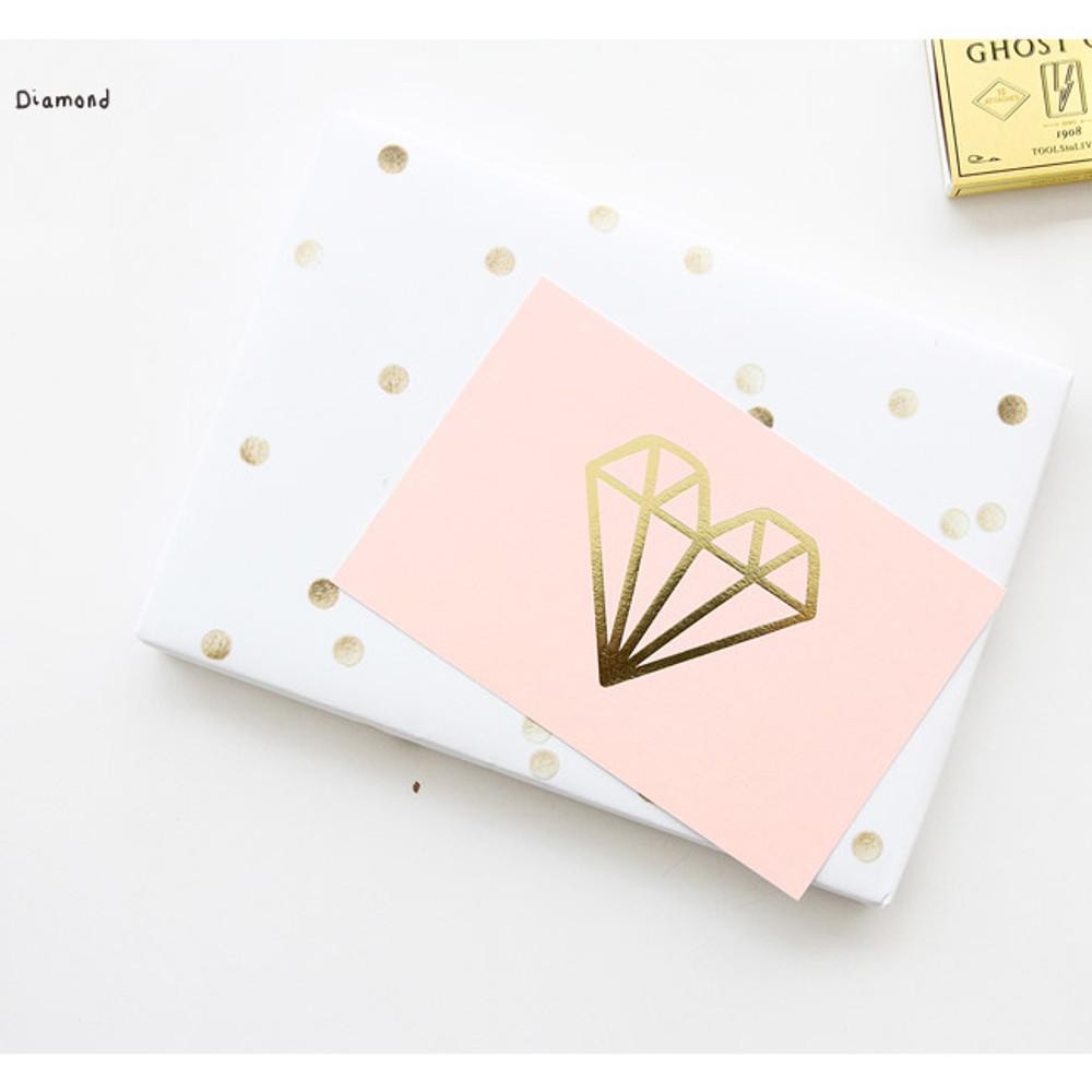 Diamond - Ghost pop illustration postcard