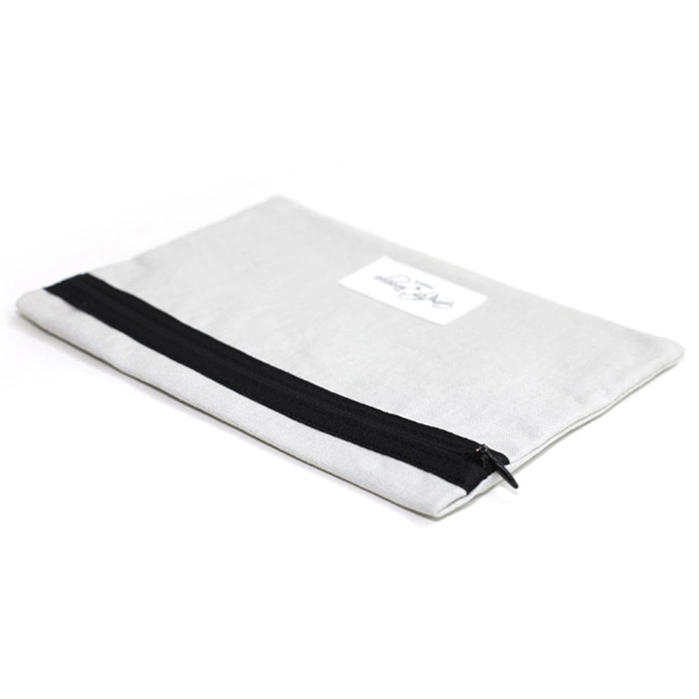 Gentle cotton large pouch - gray