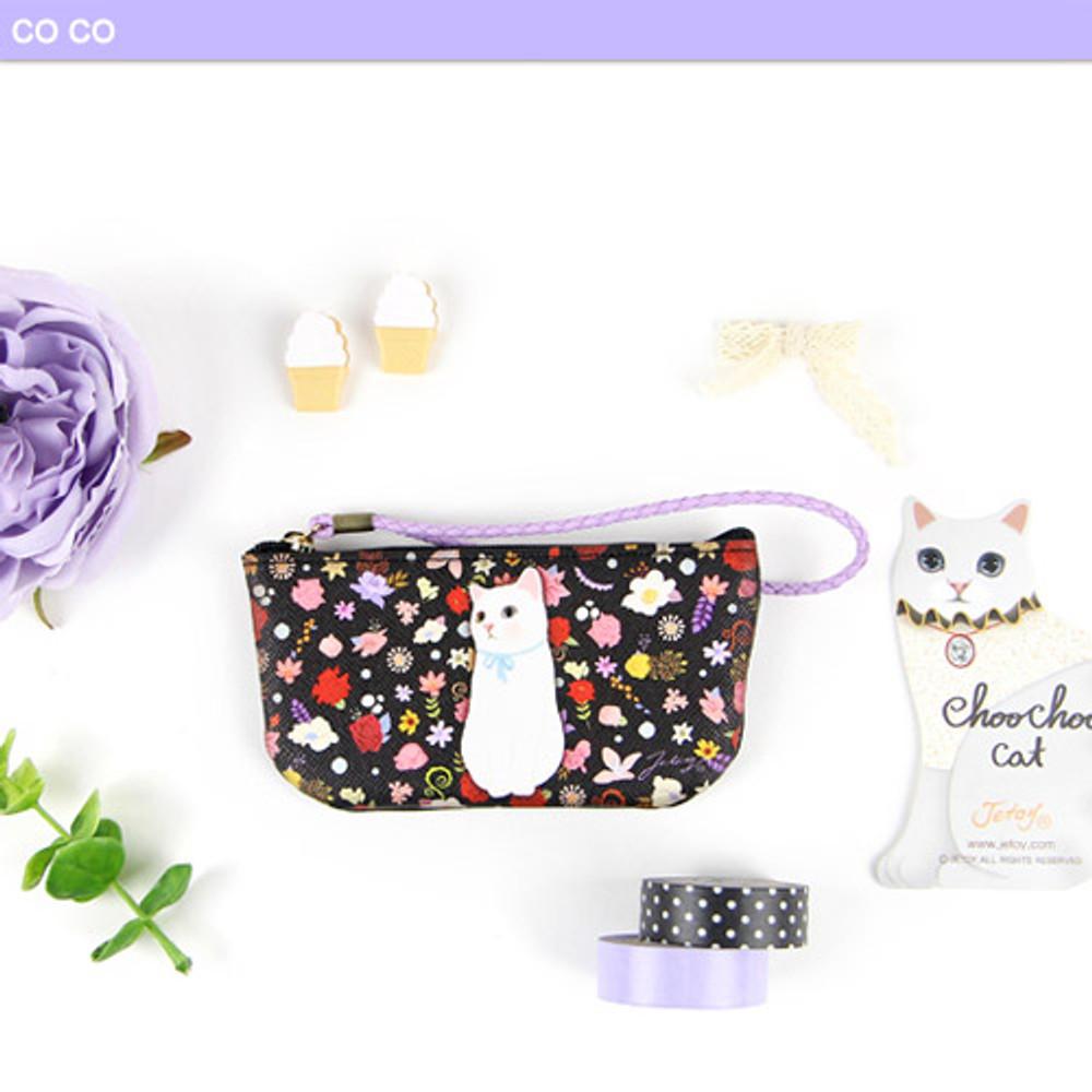 Co co - Choo Choo cat vanilla candy zipper pouch